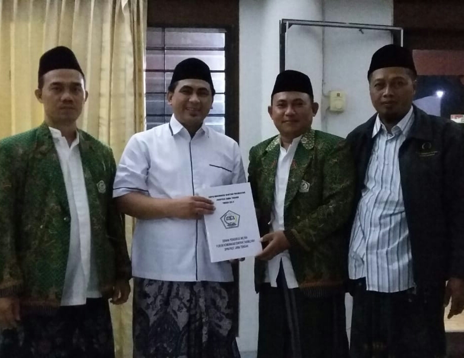 Menyampaikan kepada Wagub data Madin Jawa Tengah 2018