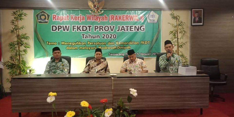 Rakerwil I DPW FKDT Jateng Tahun 2020